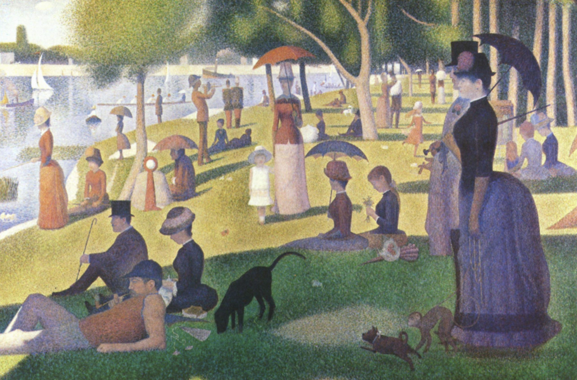 Sunday Afternoon in the Park, Georges Seurat, 1884