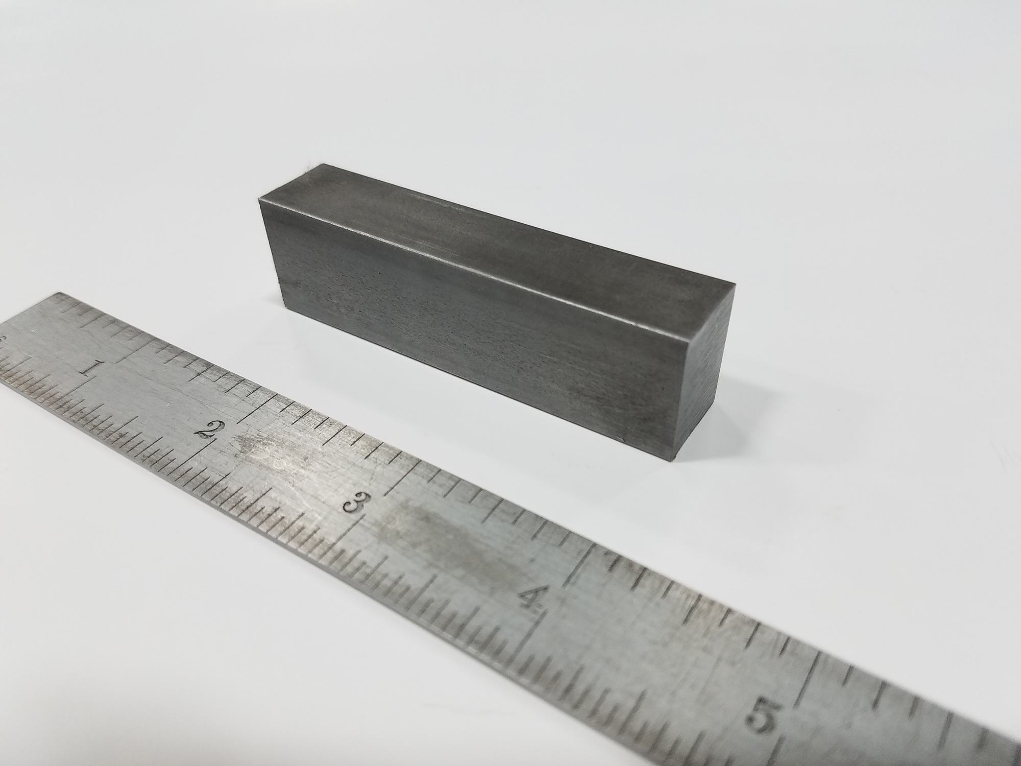 CNC Sawed Part - Material: 1018 Steel Stock