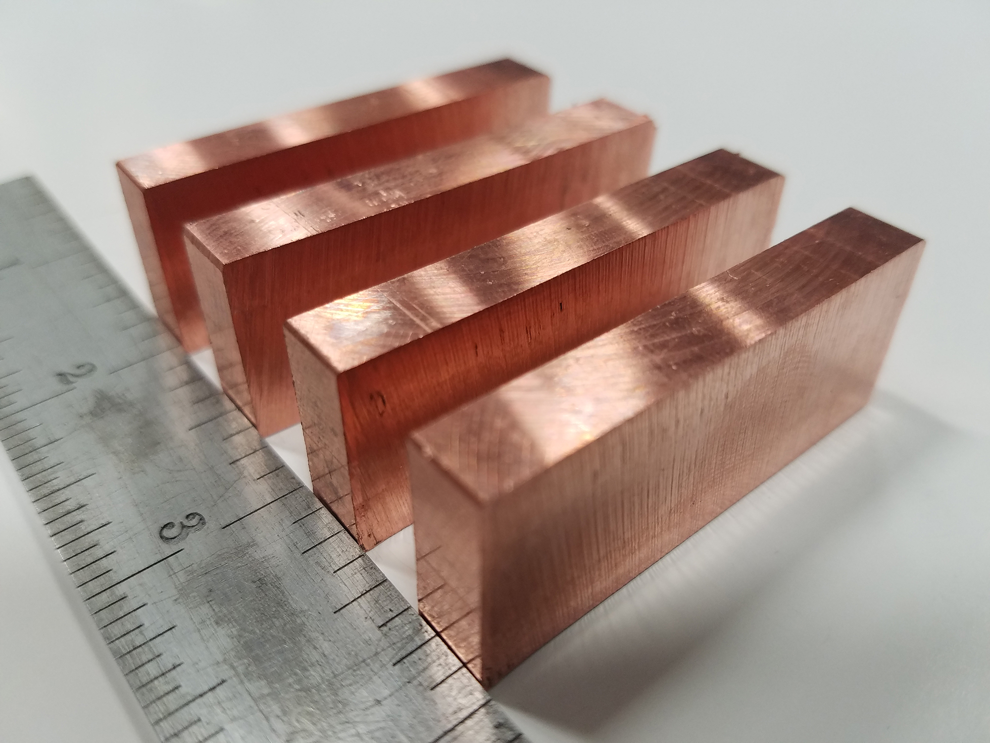 CNC Sawed Part - Material: Copper