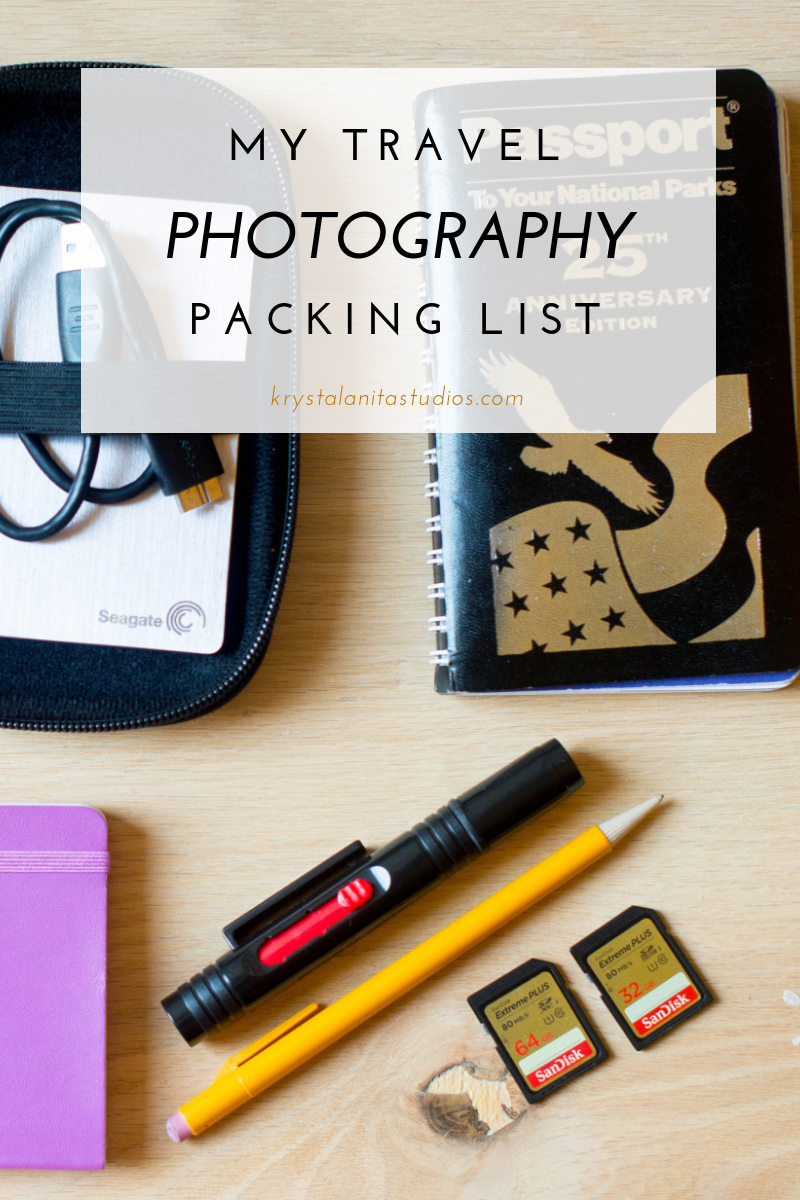 my travel photography packing list