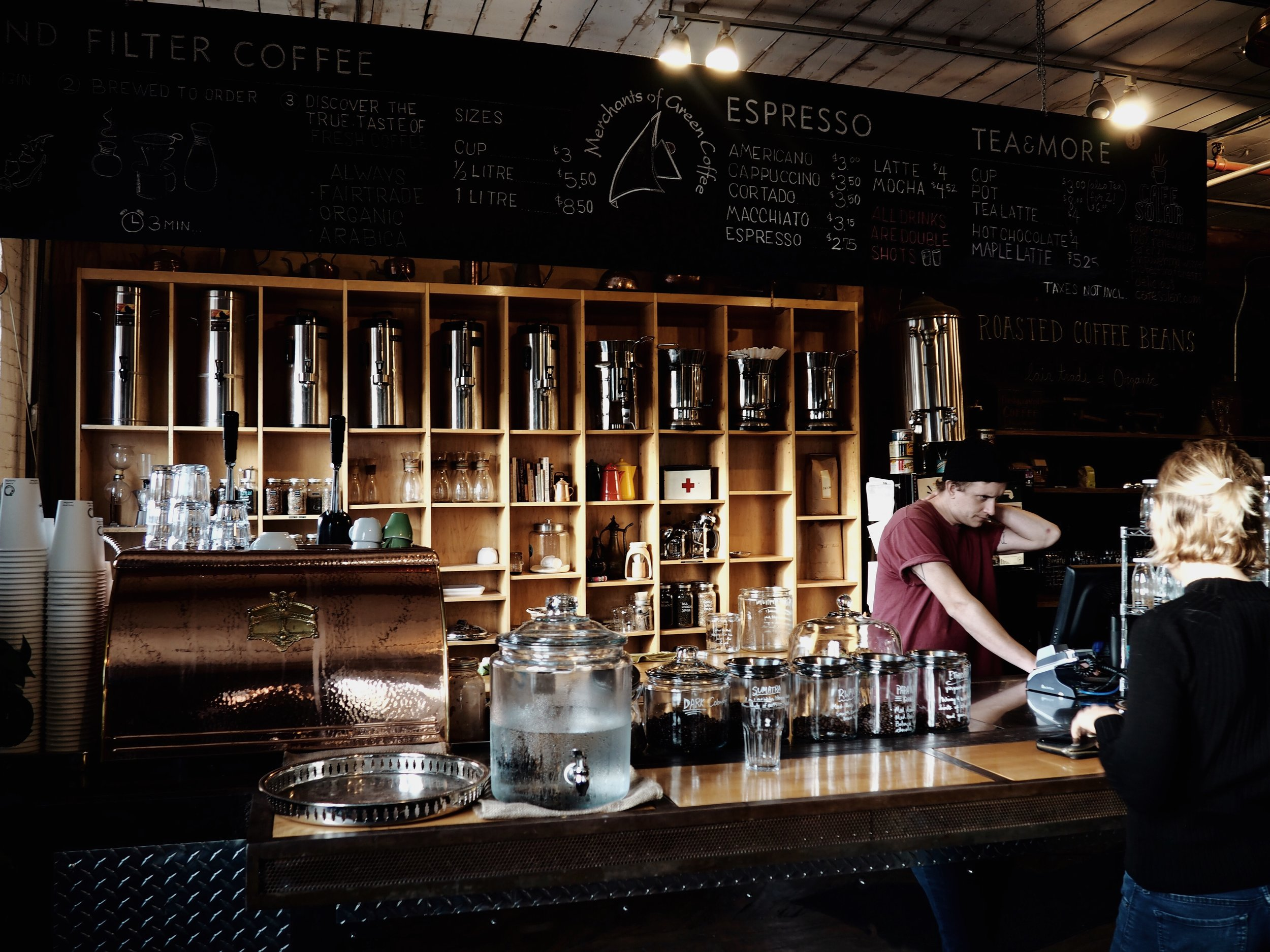 merchants of green coffee shop