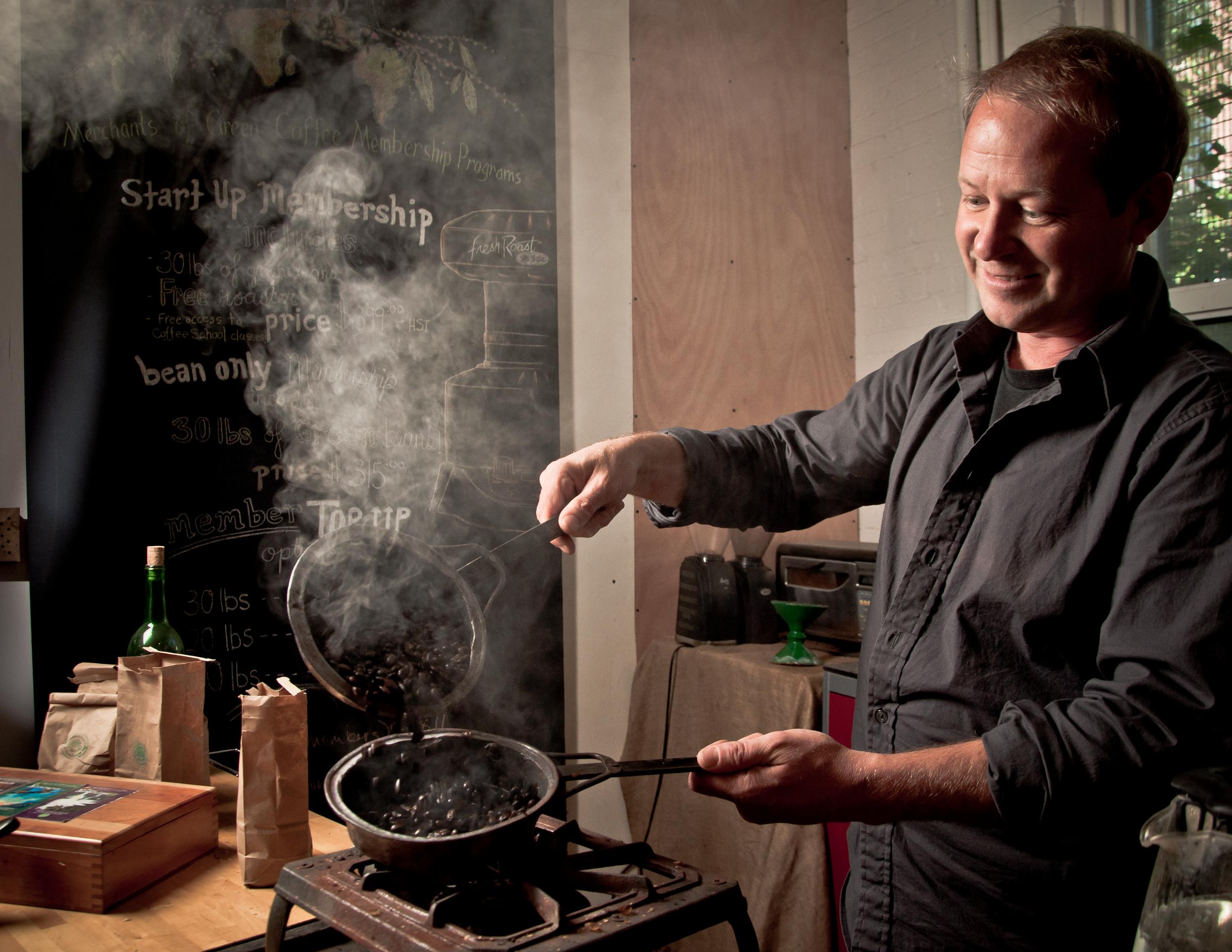 Derek Zavislake.Photo courtesy of Merchants of Green Coffee.