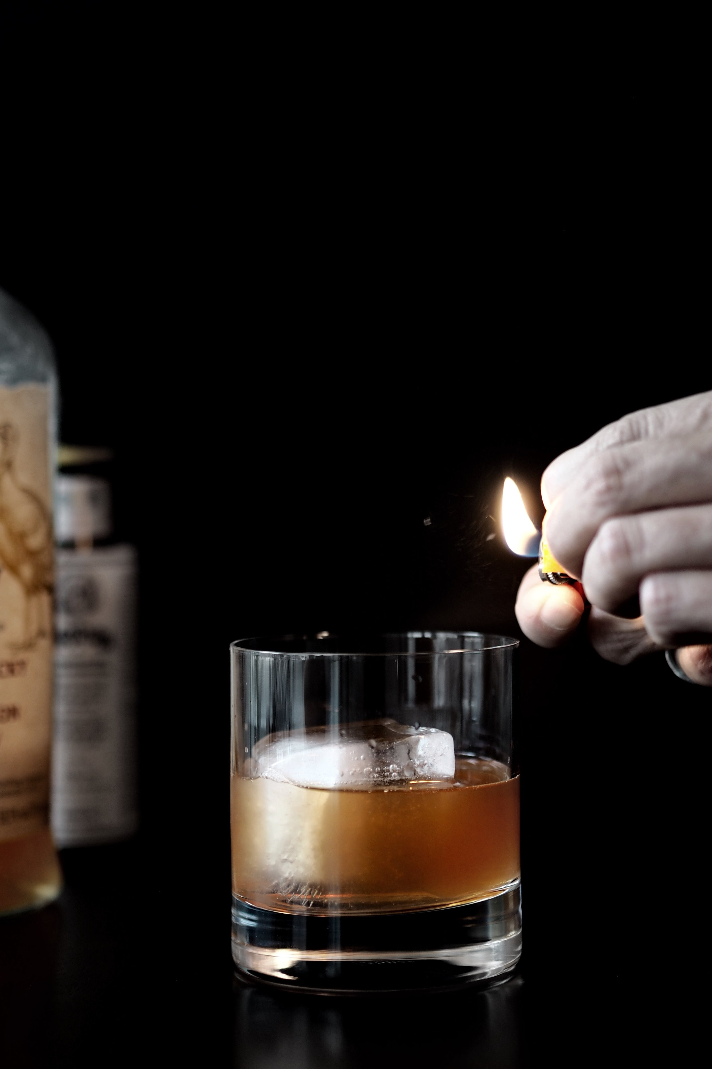 browned-butter old fashioned