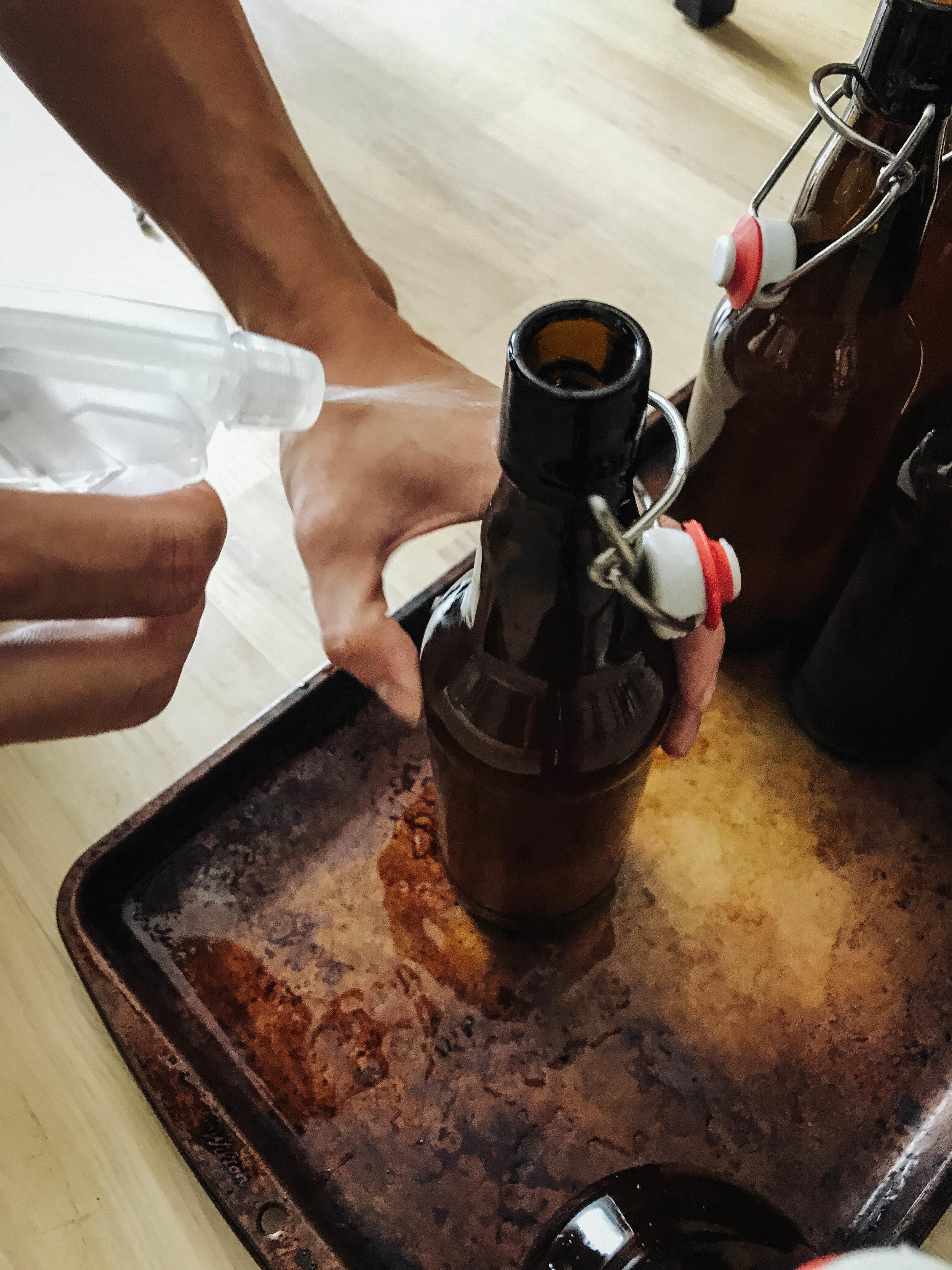 home brew beer bottling