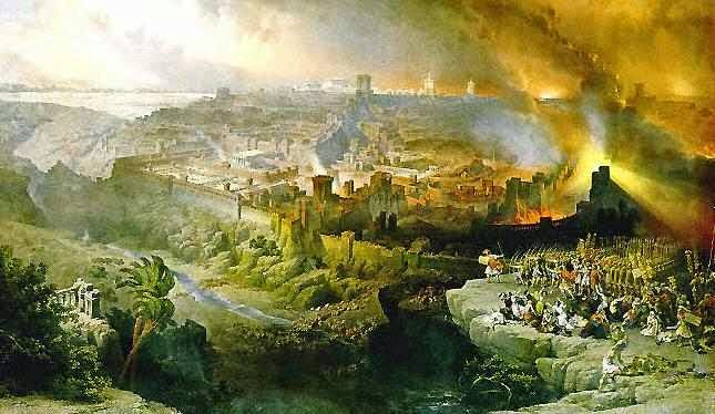 Romans destroying Jerusalem