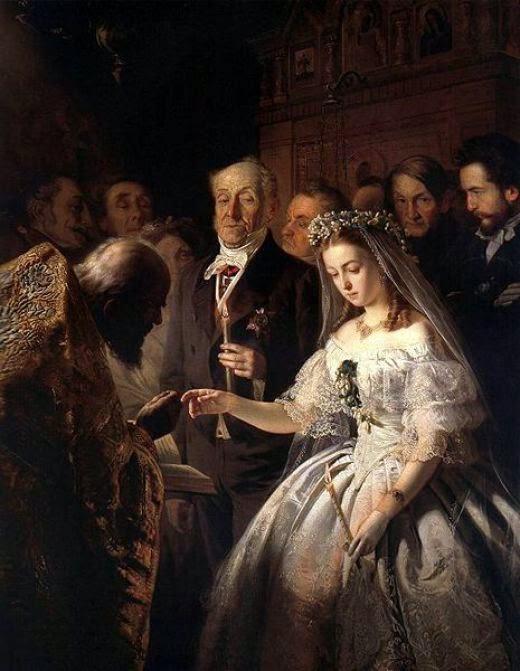 An Arranged Marriage. Vasili Pukirev 1862