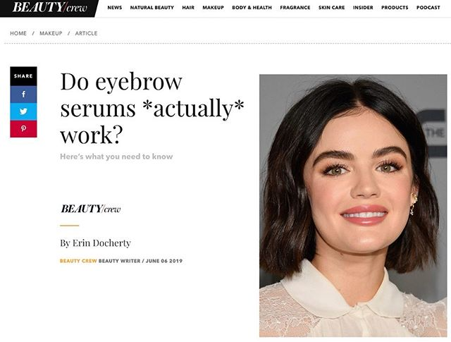 Bold Brows featured in @beautycrew as a top pick for brow growth serum thanks to their no nasty ingredients and incredible results. Thanks to @erin.docherty for the amazing write up and inclusion. #boldbrowsau
