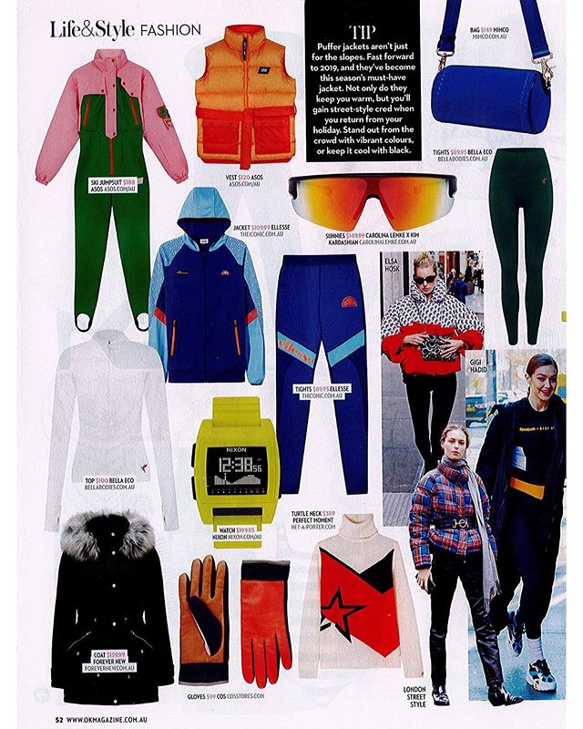 The activewear trend just got a cozy winter makeover. @bellaeco_australia spotted in the pages of @okmagaustralia #dearanzapr