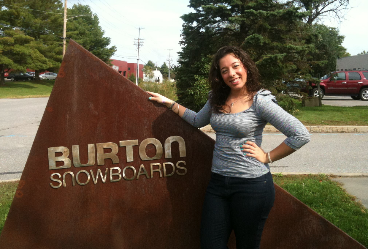 Fast forward about 5 years later to my first job, my dream job, at Burton!