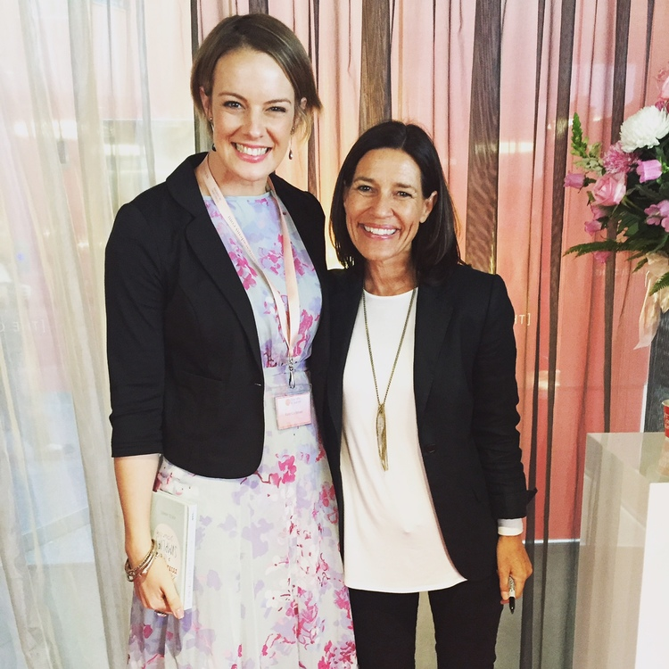 Meeting Kate James and clutching at her newest book, Be MindFul and Simplify Your Life