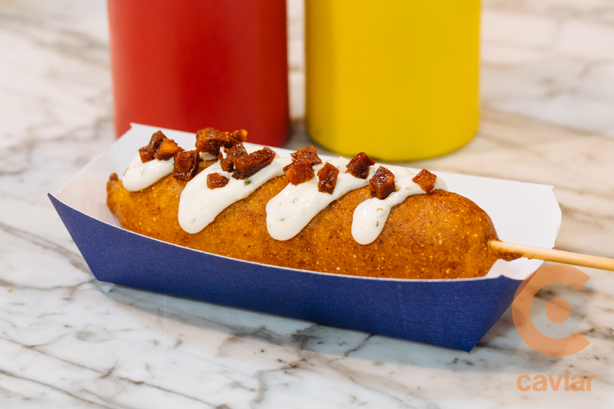 Sweet Potato Chorizo Corn Dog