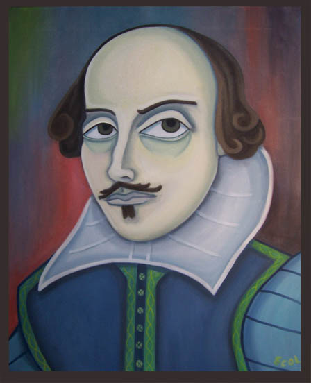 William Shakespeare  | oil on canvas