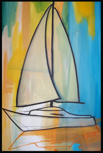 Sailboat  | oil on canvas