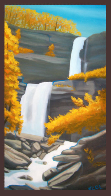 Waterfall  | oil on canvas