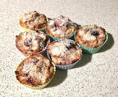 Coconut & Berry Muffins