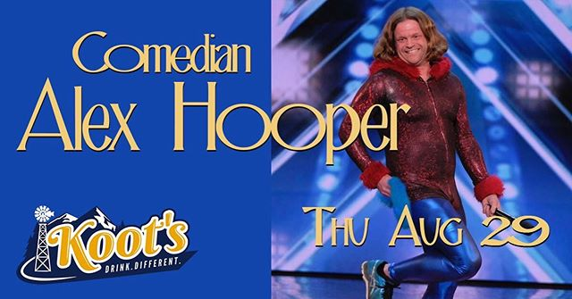 Koot's comedy tonight with @hooperhairpuff 😎gonna be a hoot #koots #akcomedy #b4udiefest