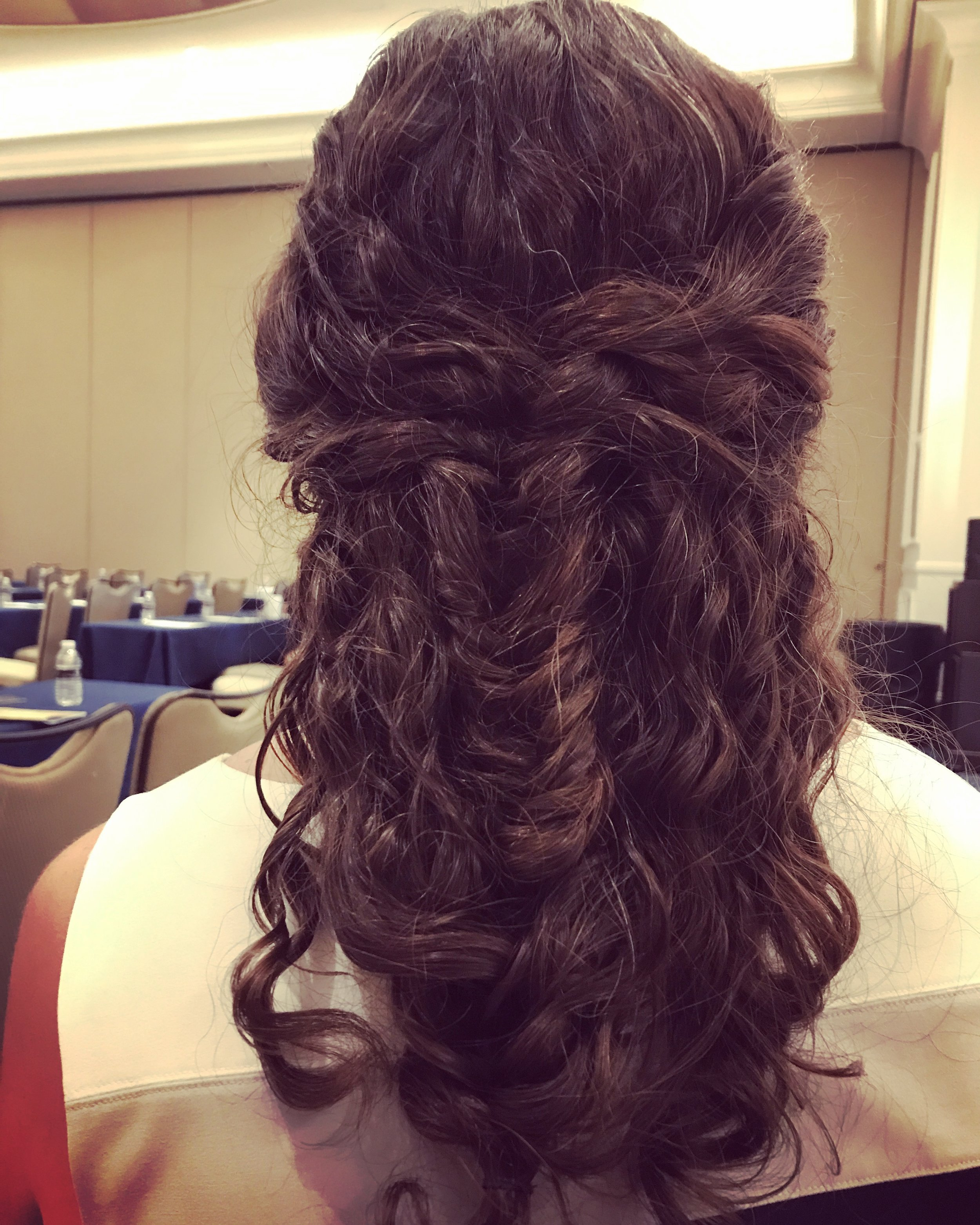 Dove  - Dove brought a lot of women a lot of joy in their suite, giving us the gift of good hair. I gave my stylist, Whitney, carte blanche, and she came up with an intricate fishtail braid that made me feel like a grownup.