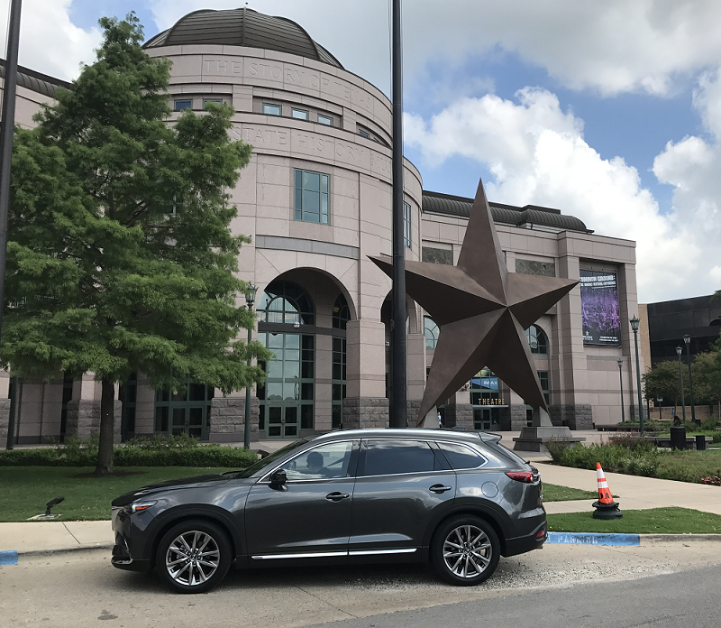 Curbside at the Bob Bullock museum in downtown Austin, Texas.