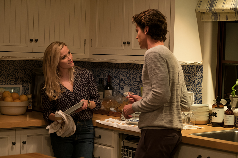 Witherspoon with Pico Alexander, who plays Harry, the young romancer.