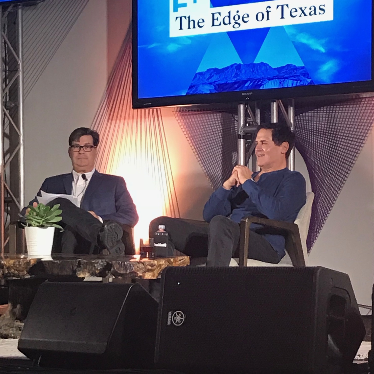 Skip Hollandsworth interviewed Mark Cuban at the Joule Hotel at the Edge of Texas event.
