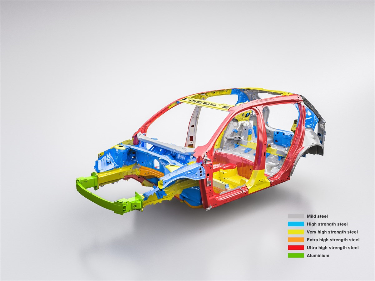 Volvo's steel map for the new XC40. (photo courtesy of Volvo)