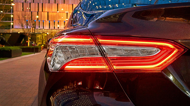 The LED lights on the new Camry are f-i-i-i-i-i-n-e.