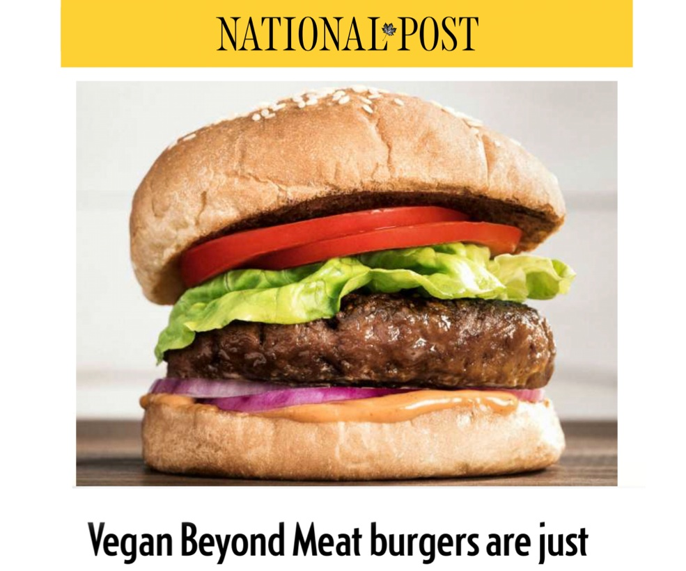 National Post  review of Beyond Meat burgers