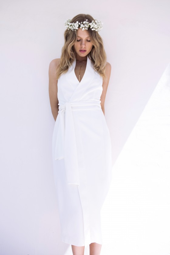 Shop Keepsake The Label White Shadows Dress.
