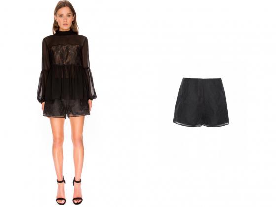 Shop Keepsake The Label Sundream Lace L/S Top + Shorts.