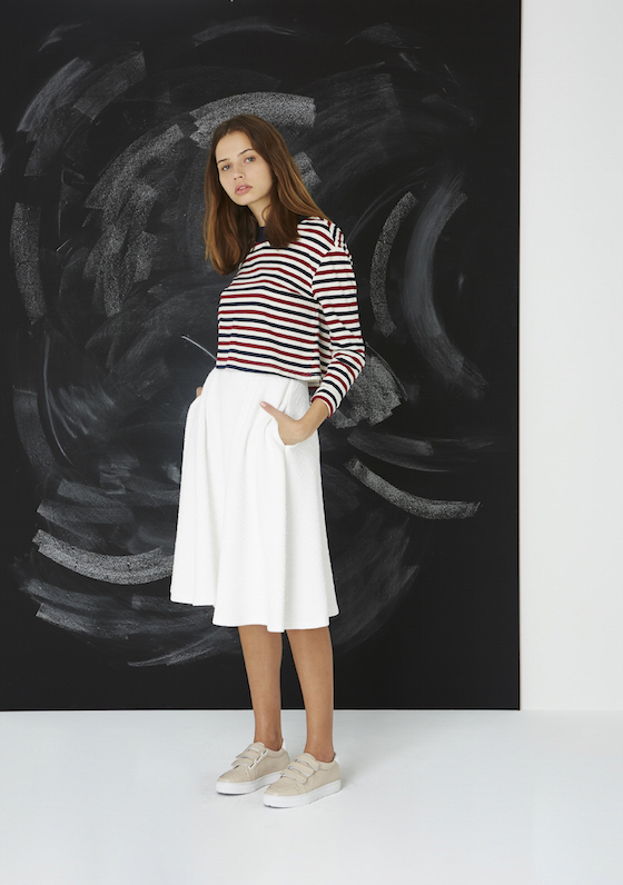 Shop The Fifth Label Exploration Long Sleeve Top + Passport Skirt.