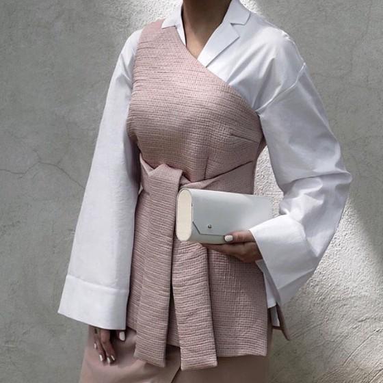 Katherine wears Keepsake The Label Rapture Top + Visionary Skirt