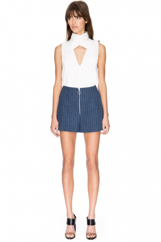 C/MEO COLLECTIVE Stay Cool Pinstripe Shorts