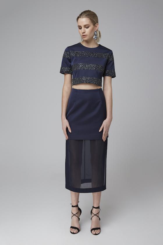 Shop Keepsake Northern Lights Beaded Crop + Skirt.