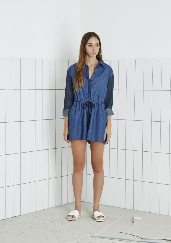 Shop The Fifth Burning Colour Playsuit.