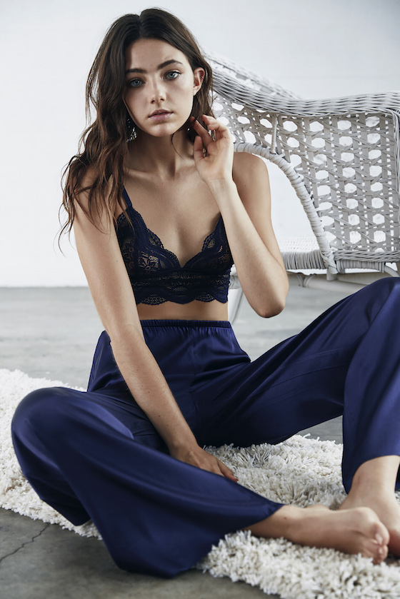 Shop the Keepsake Intimates Katie Bralette + Storyteller Silk Pants.