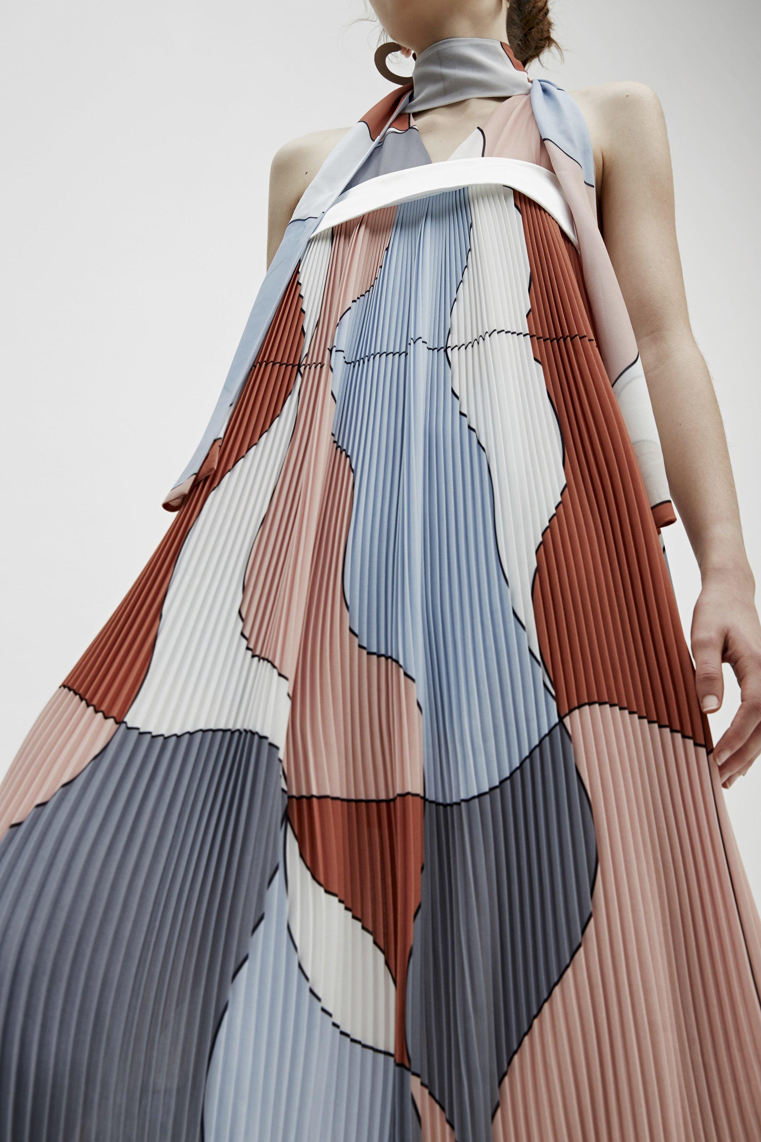 C/MEO Big Dreams Print Dress  + Make It Right L/S Dress (layered)