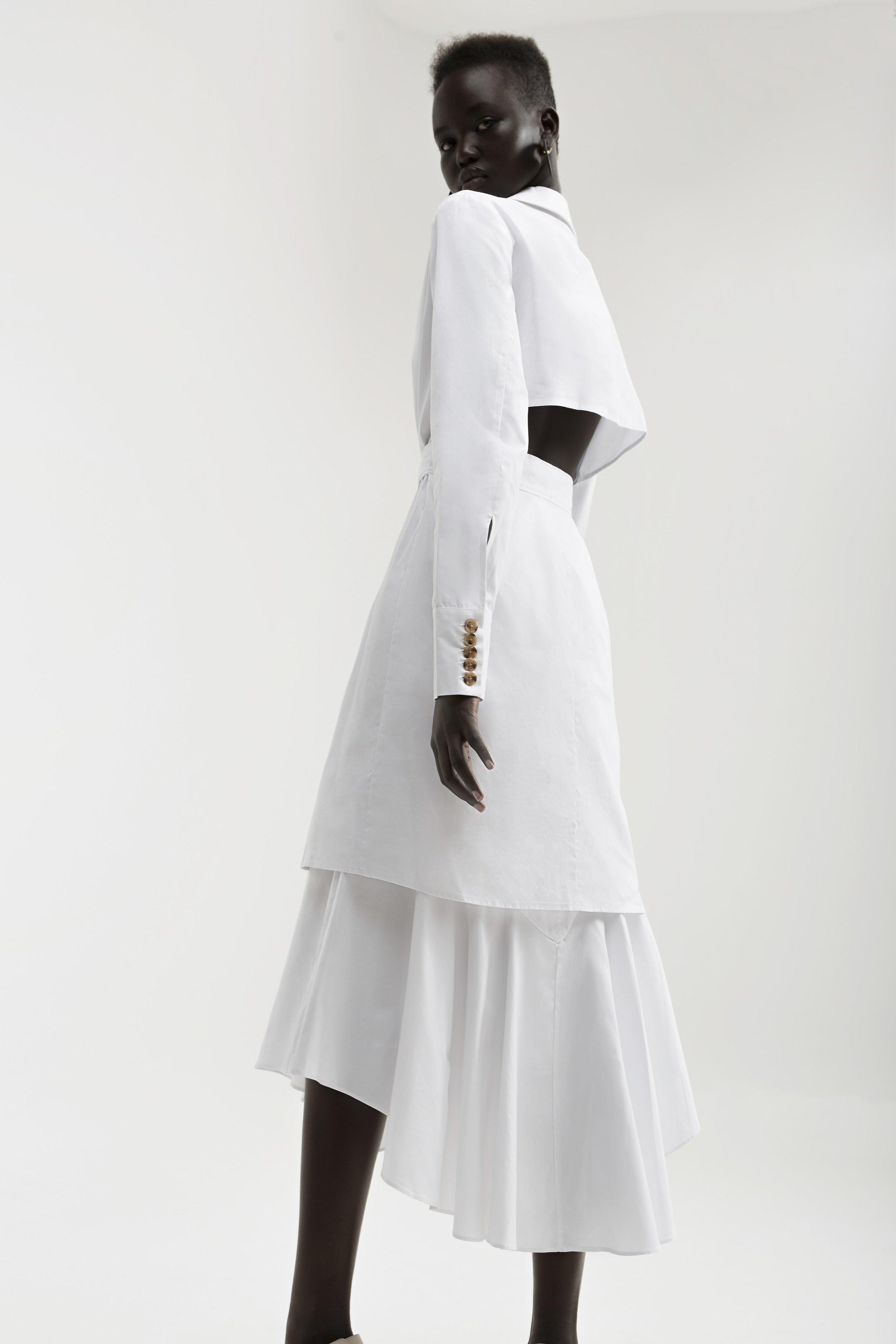 C/MEO  Into You Shirt Dress  +  Shirting Skirt .