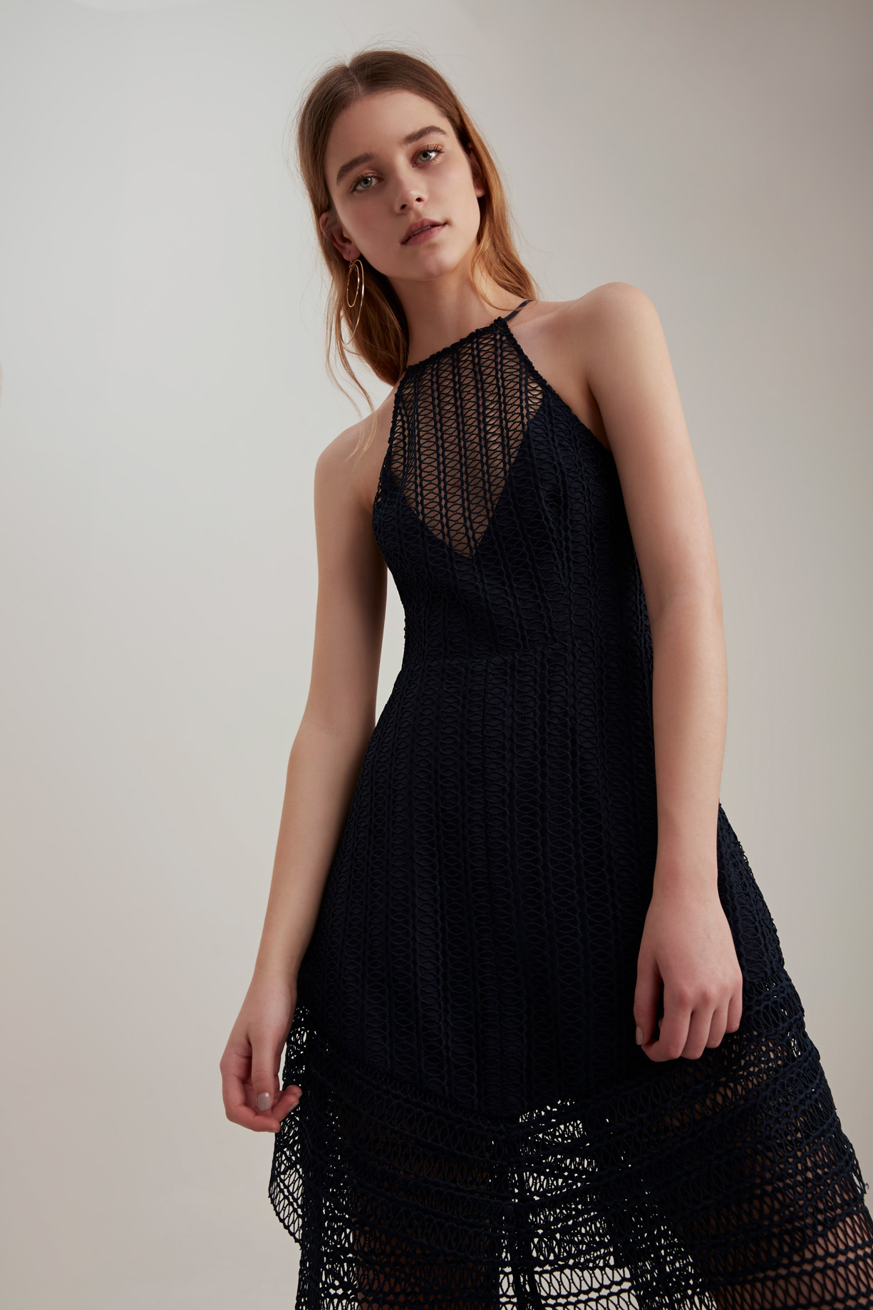 Keepsake All Night Lace Mini Dress + Pants .