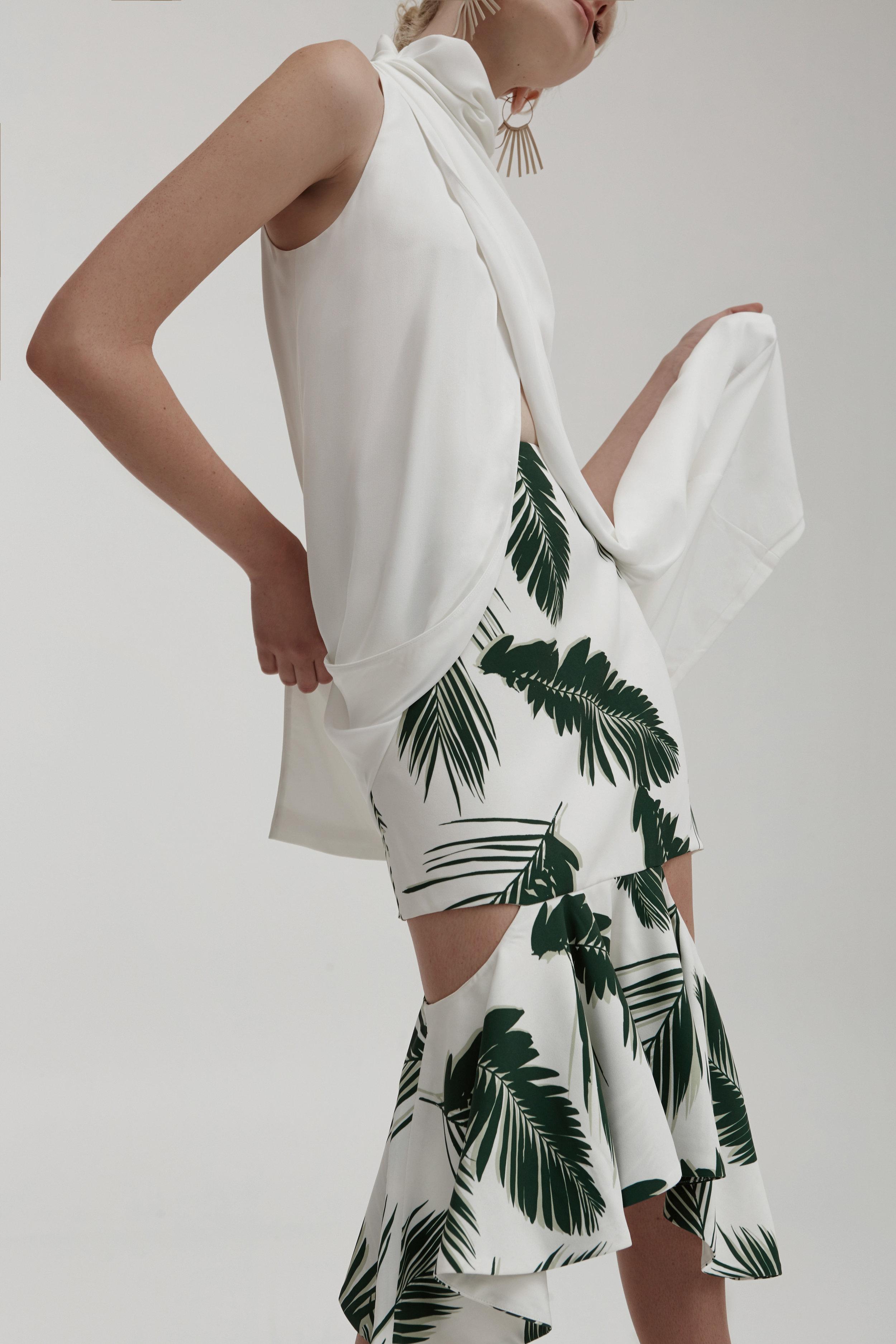 C/MEO COLLECTIVE Never Be Like You Dress + Enfold Skirt.
