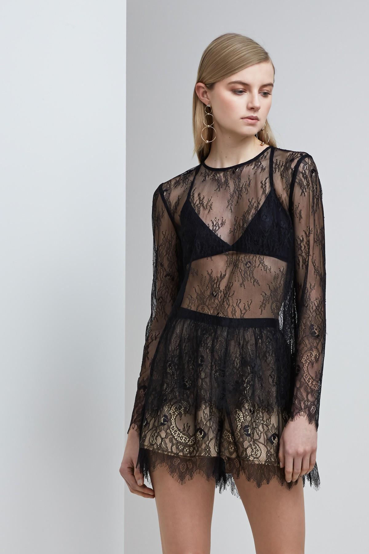 Shop  Keepsake Above Water Lace L/S Top  +  Lace Shorts .