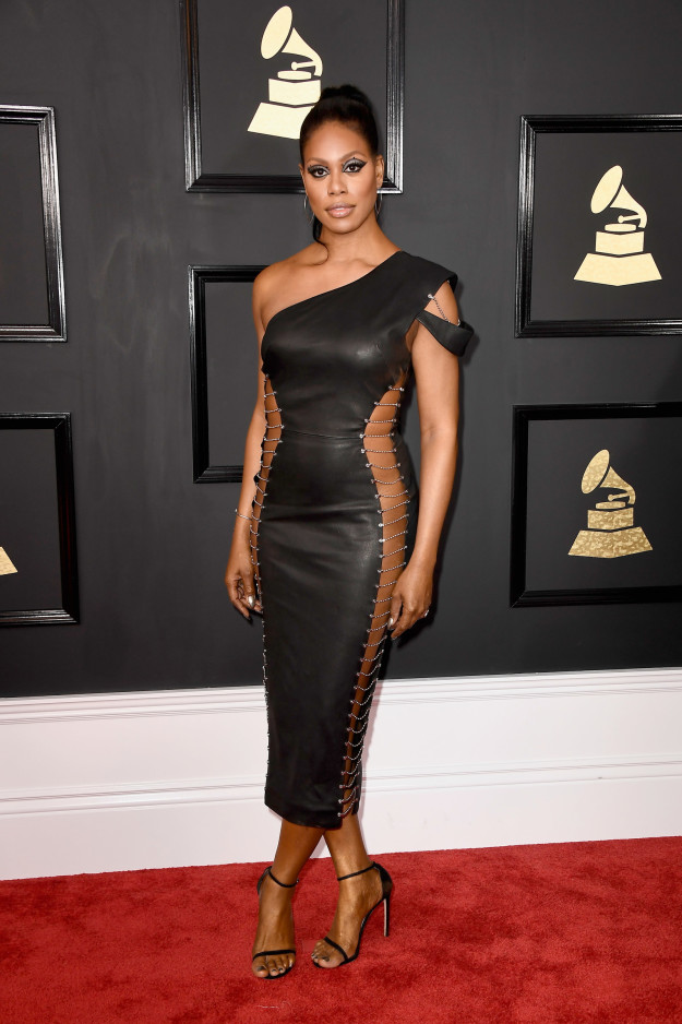 Laverne Cox - Just a little too much lace up action for our liking.