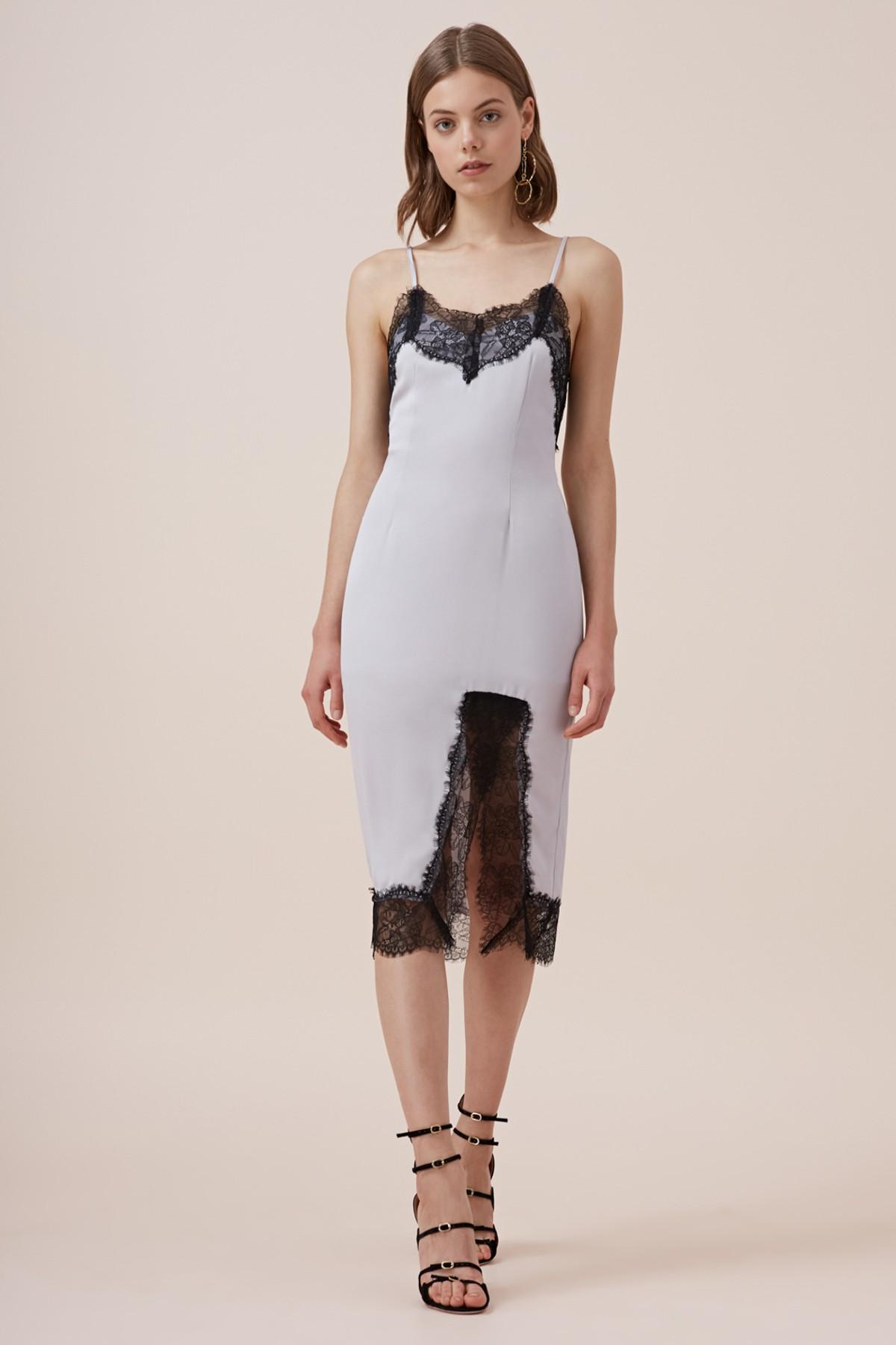Keepsake The Label Stop Me Lace Trim Dress