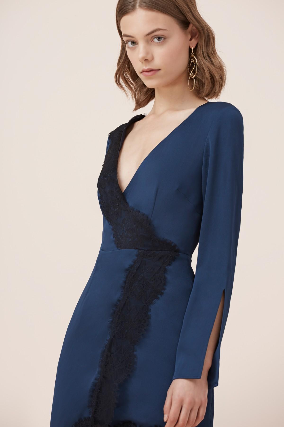 Keepsake The Label Lace Trim L/S Mini Dress
