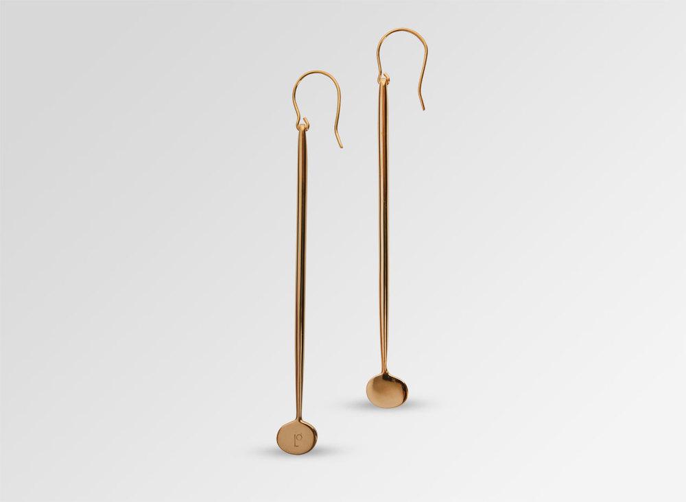 Dinosaur Designs - Louise Olsen Long Dandelion Drop Earrings - Gold