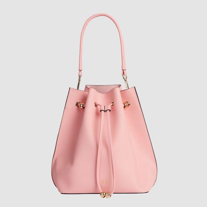 TDE Peony Pink Bucket Bag