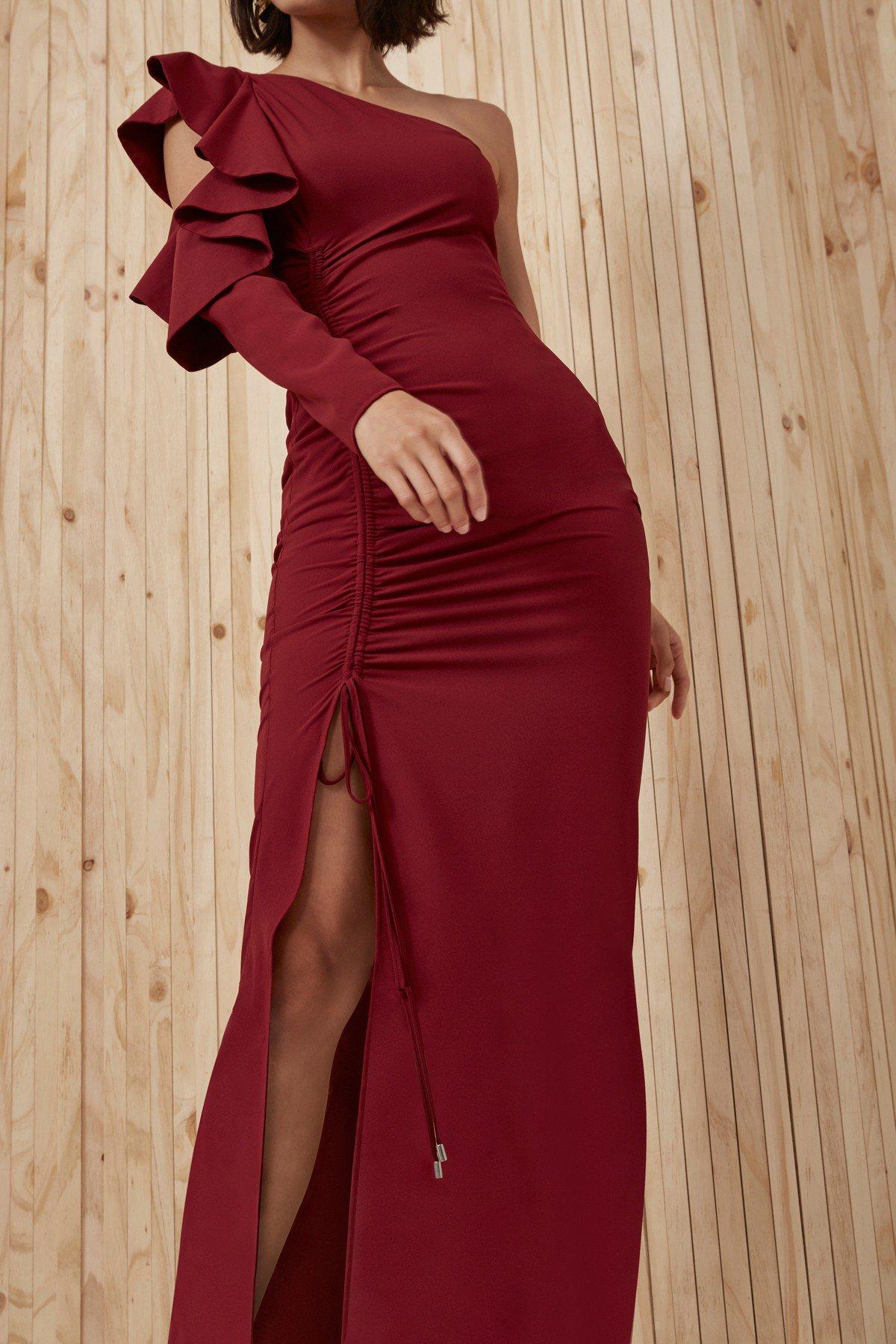 Shop C/MEO White Noise Full Length Dress.