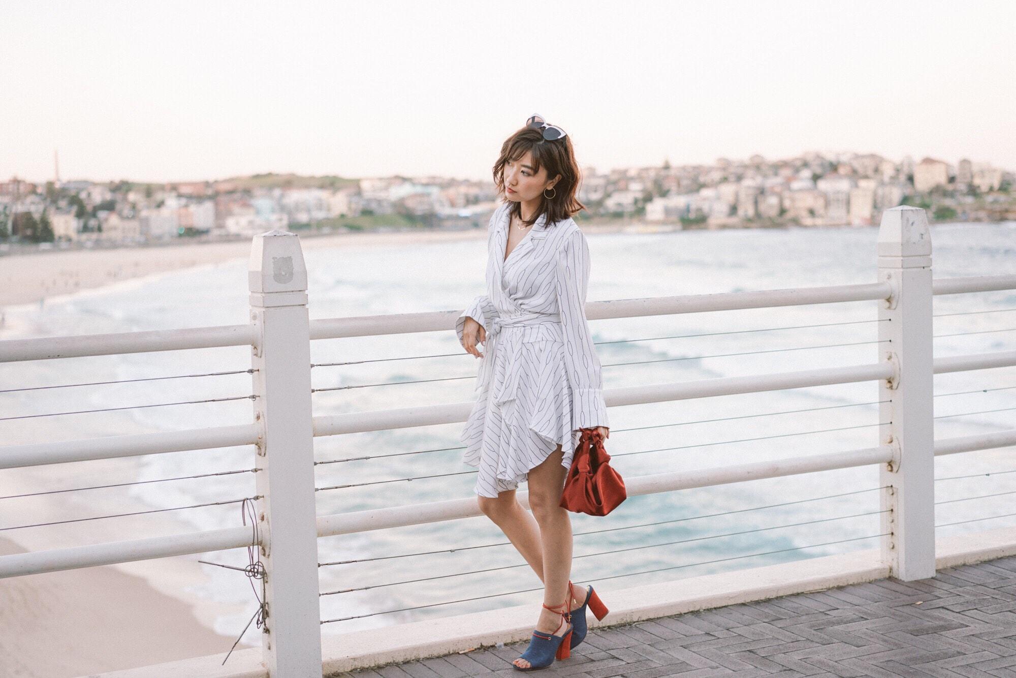 Save wears  C/MEO Everlasting L/S Dress  +  JAGGAR Pinnacle Denim Heel . Image courtesy of Savislook.