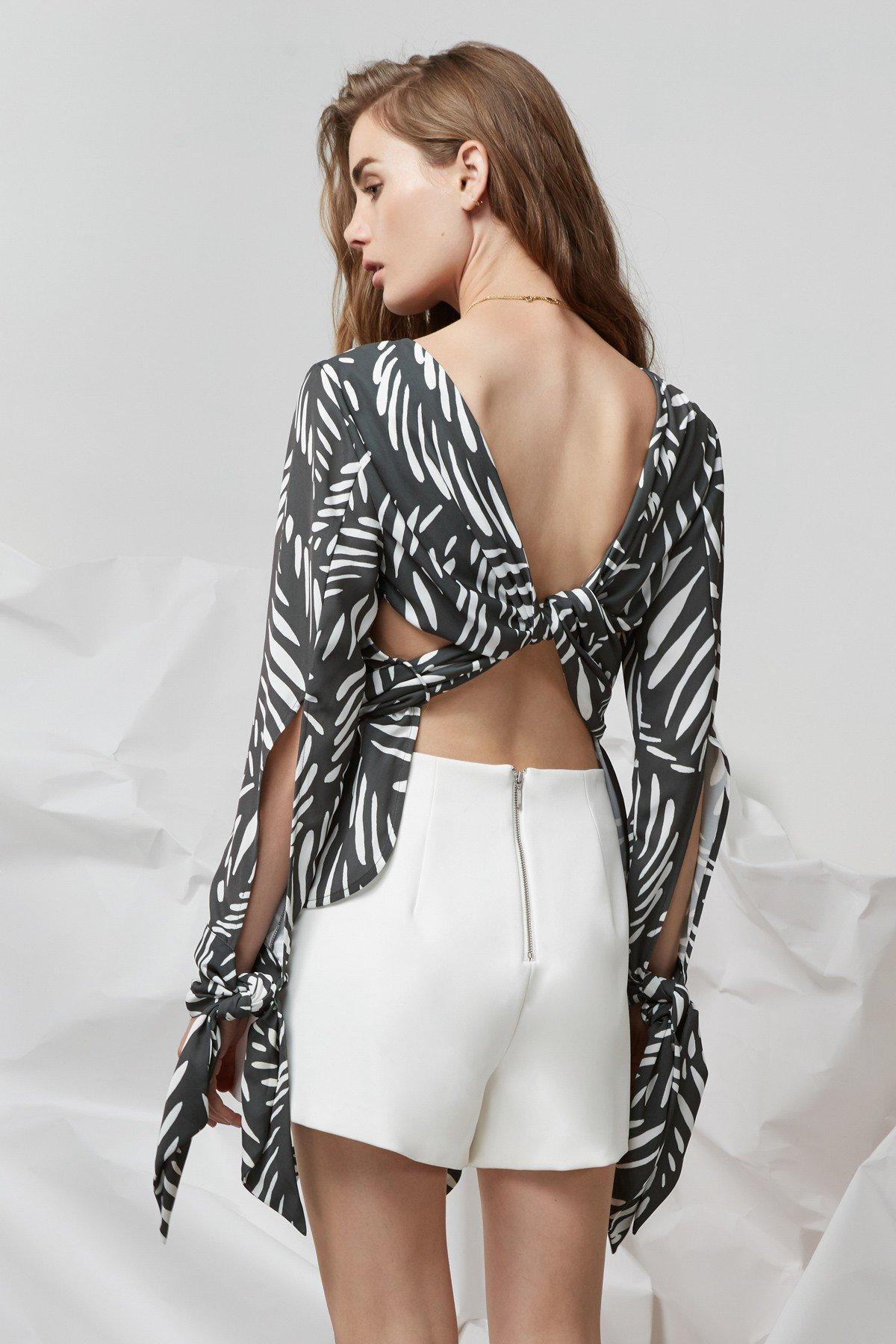 Shop Finders I Spy Tie Back Long Sleeve Top.