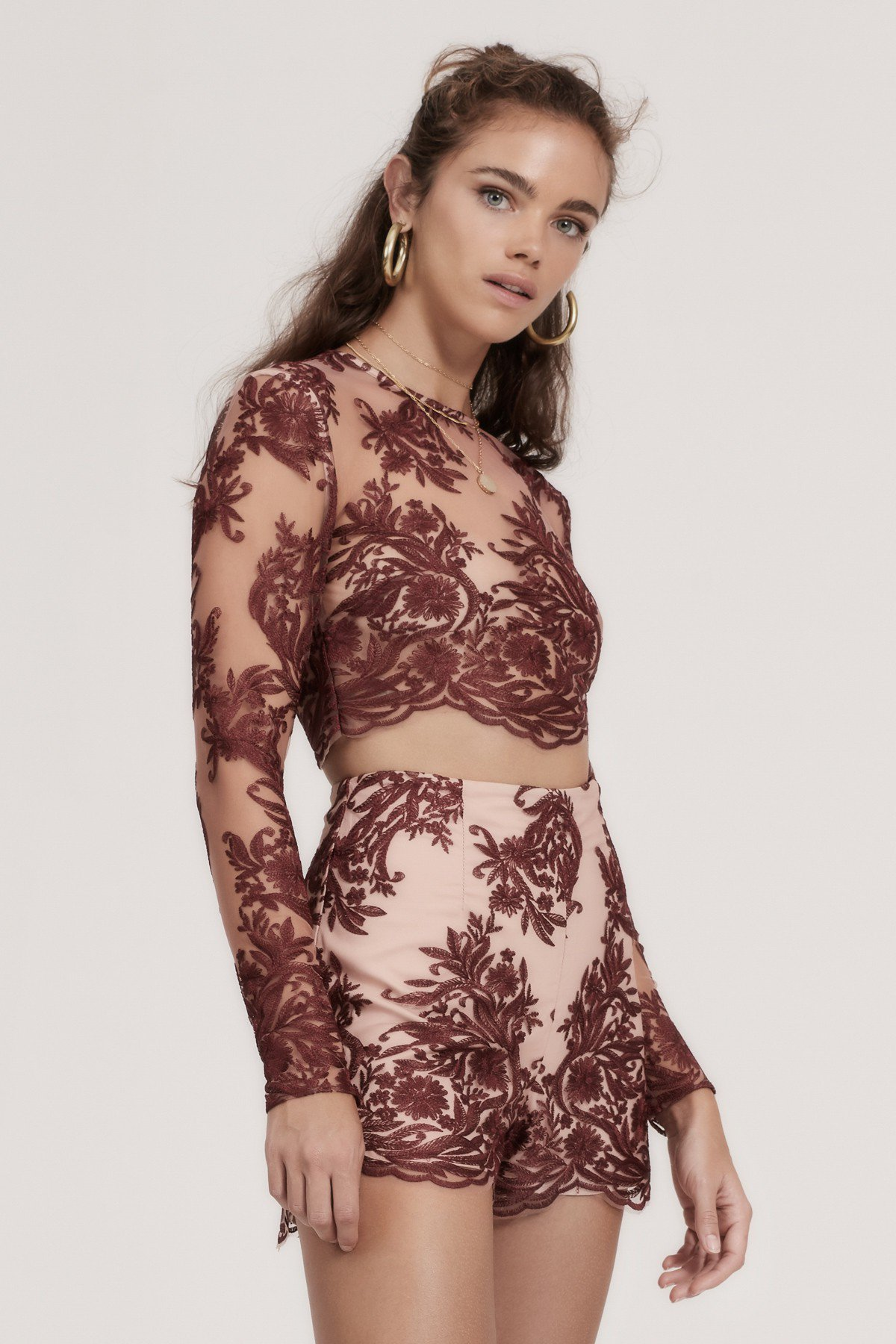 Shop  Finders Spectral Long Sleeve Top  +  Spectral Lace Short .