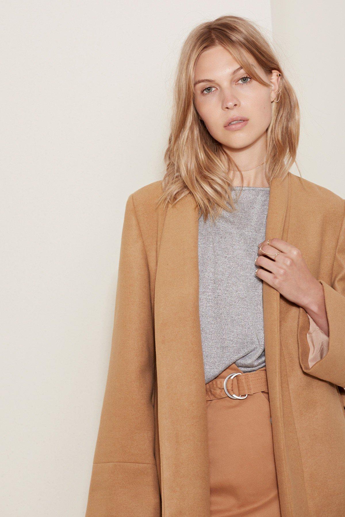 the fifth label tan coat
